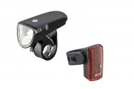 AXA GreenLine 35 Lux LED Akku-Beleuchtungsset